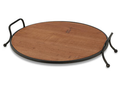 Derry Round Footed Tray