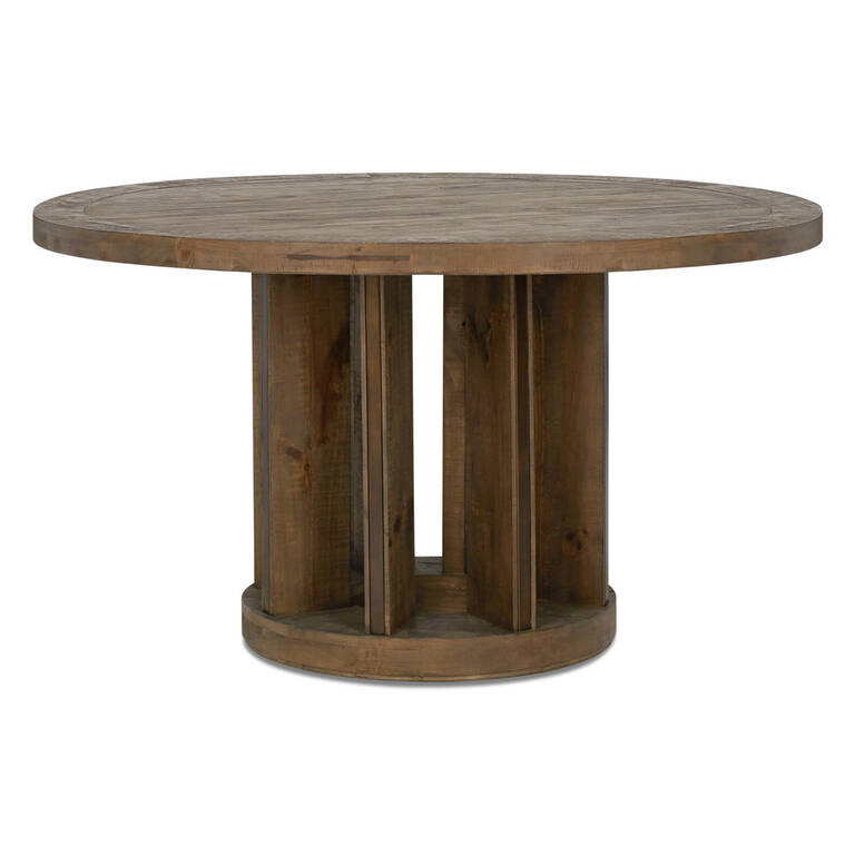 Mandalay Dining Table RND -Dune Brown