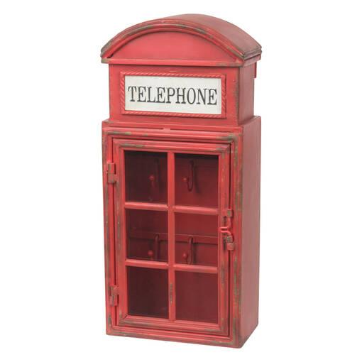 Boîte à clés cabine téléphonique rouge