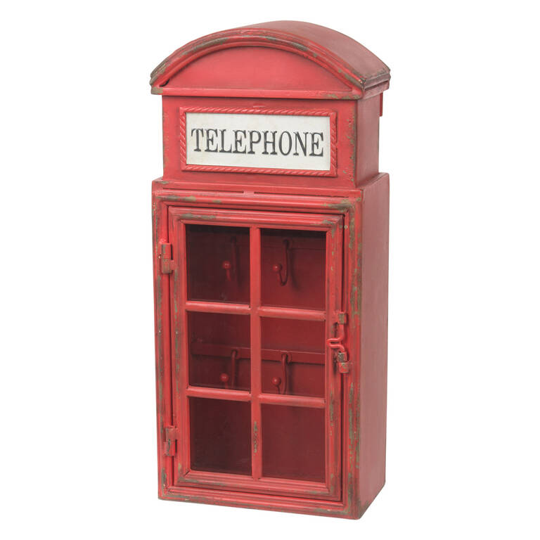 Phone Booth Key Box Red