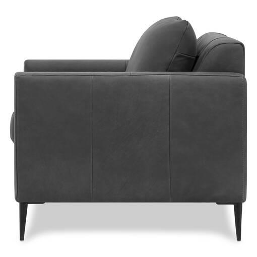 Lucca Leather Armchair -Attica Slate