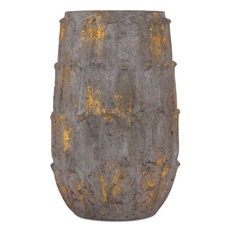 Nikky Vase Pebble/Brass