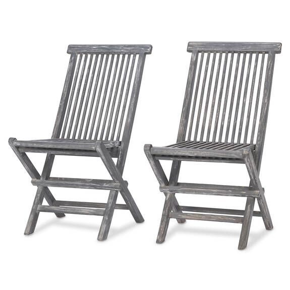 Galiano Chairs S/2 -Teak Grey