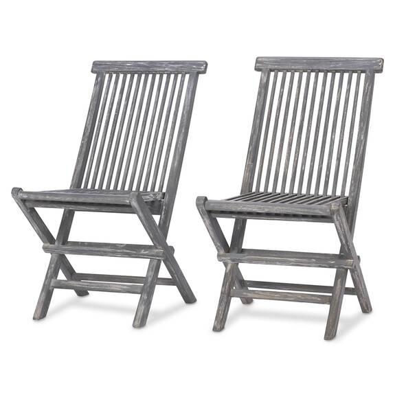 Deux chaises Galiano -teck gris