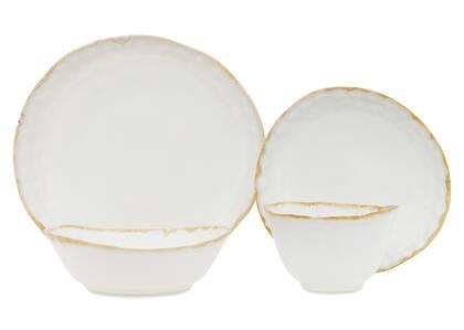 Crofton Glazed 16pc Dish Set White