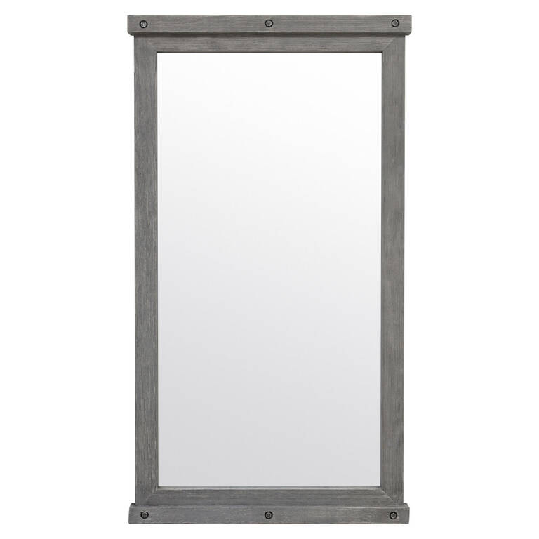 Valdes Floor Mirror Grey