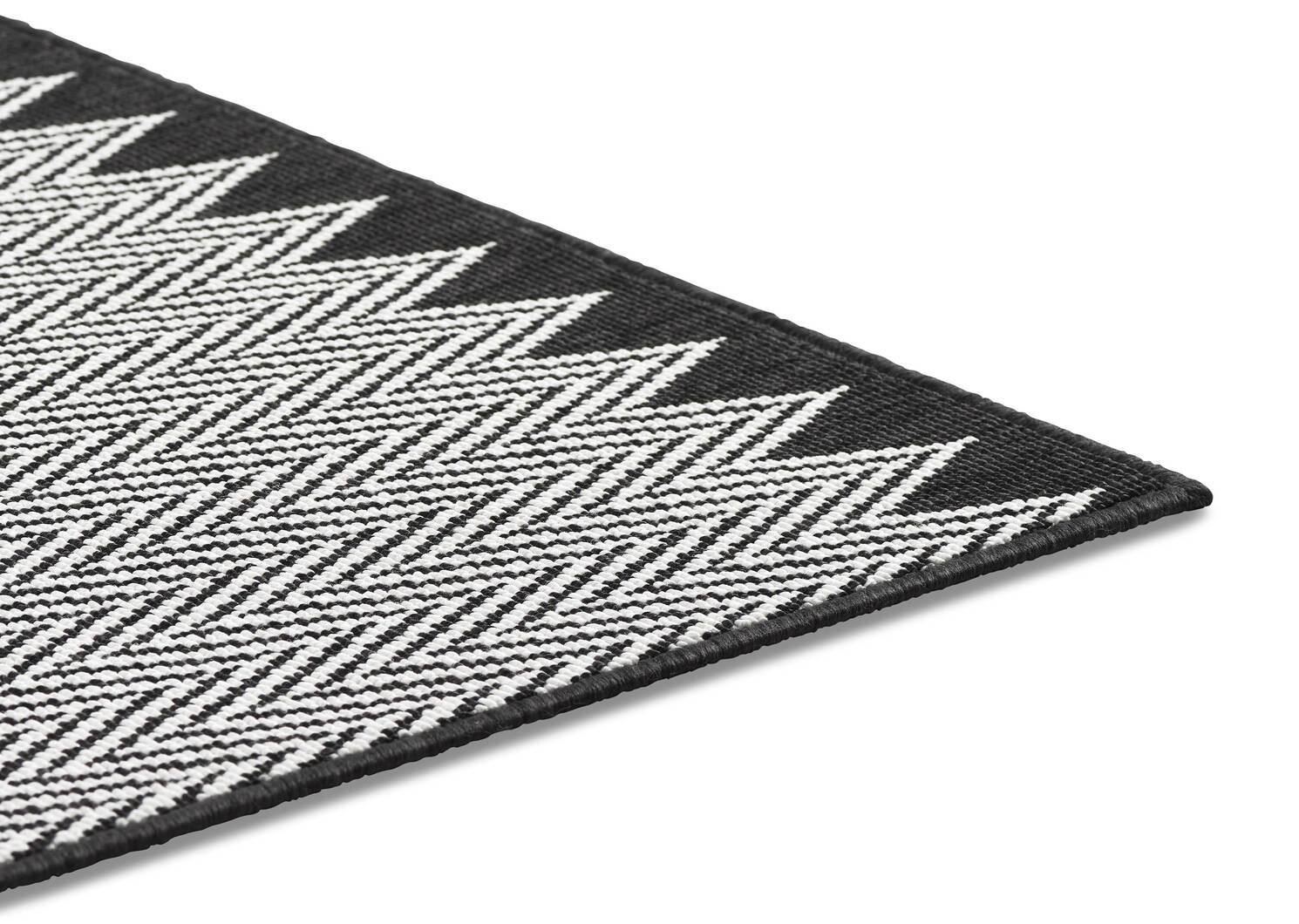 Matira Rug - Zigzag Black/Ivory