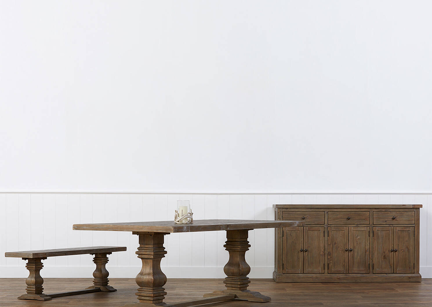 Sussex Dining Table -Brulé Pine