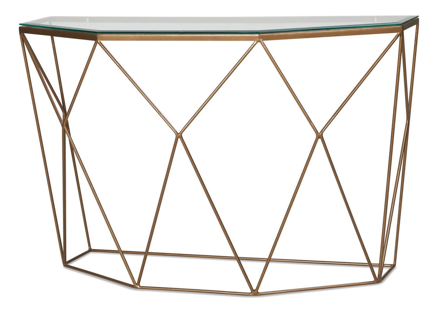 Table console Stella -fini laiton
