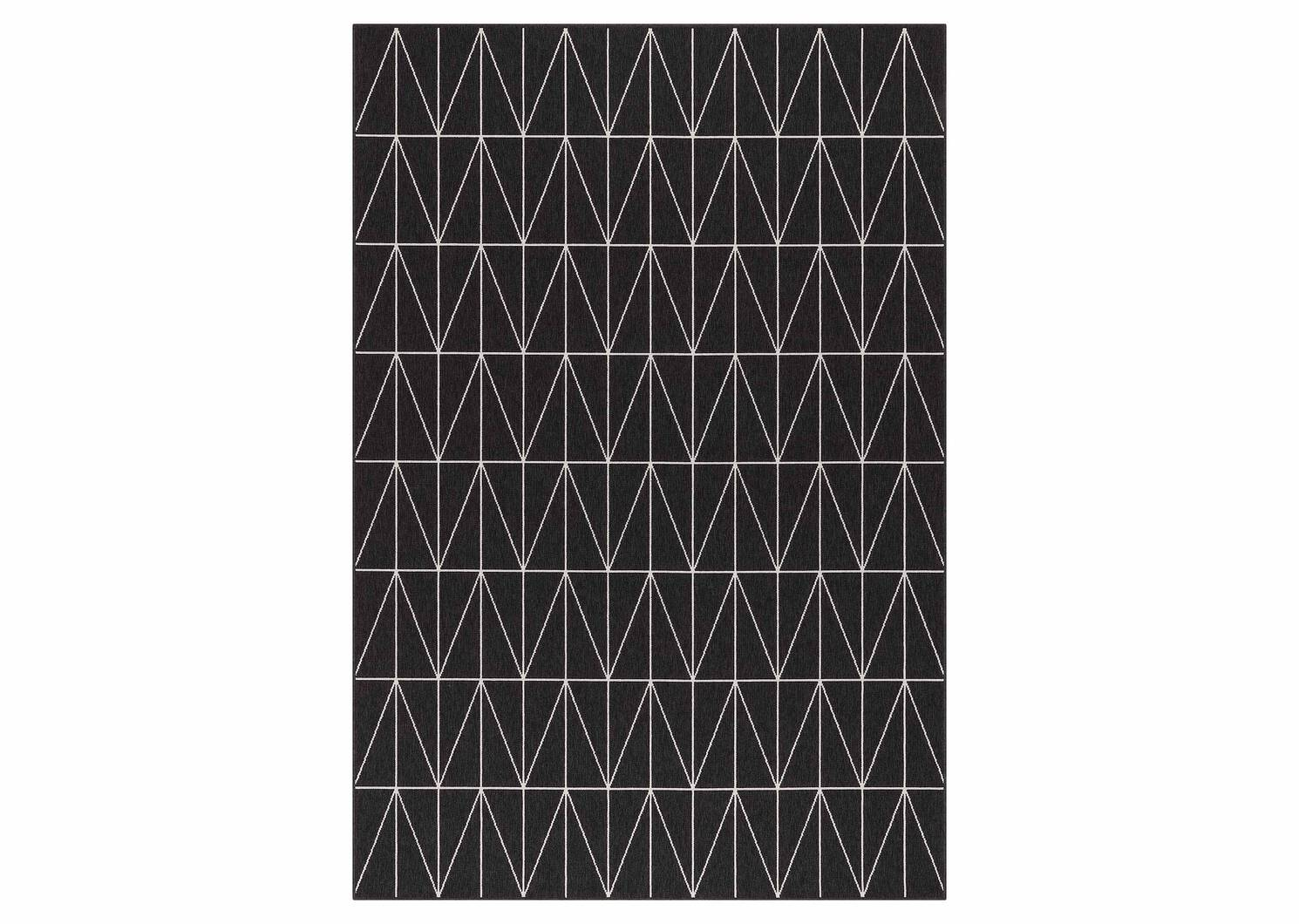 Matira Rug 79x114 Tile Black/Ivory