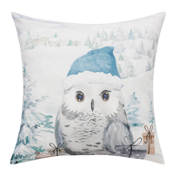 Coussin chouette Christmas 20x20