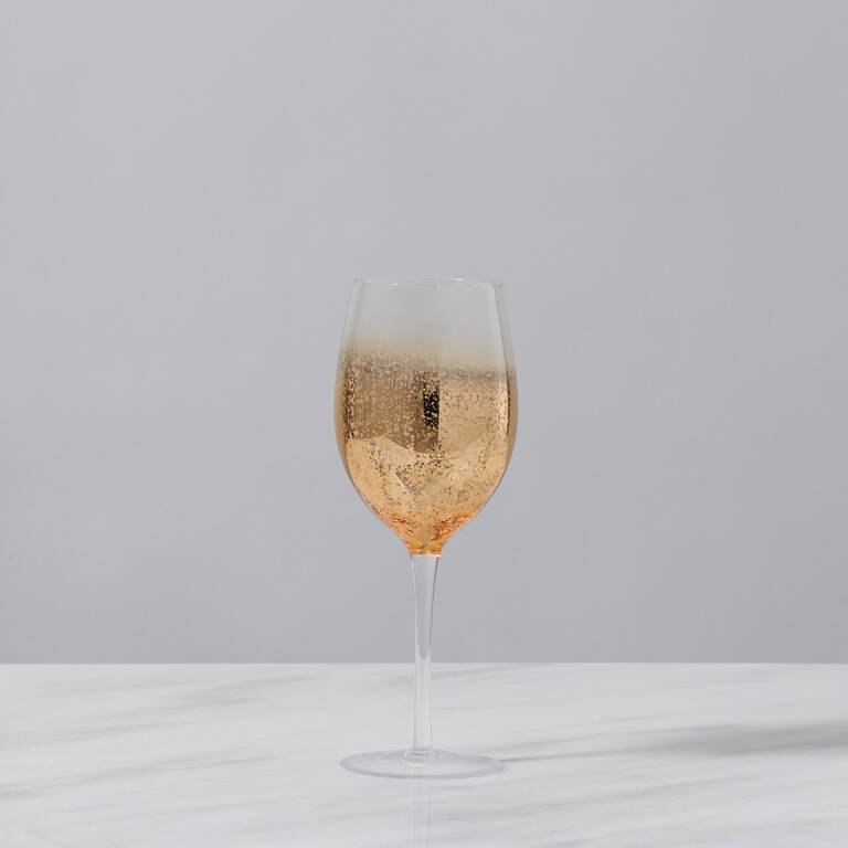 Shimmer Wine Glass Gold