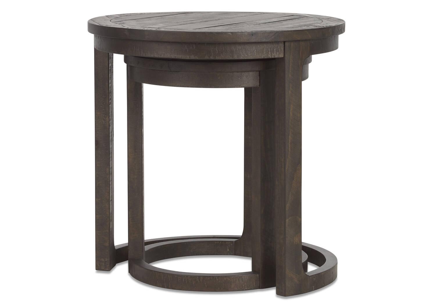 Walker Nesting Side Table Set -Carob