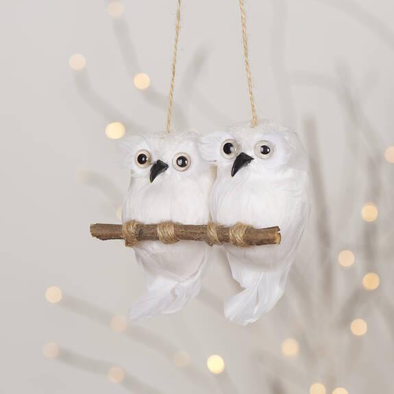 Coldin Owls Orn White