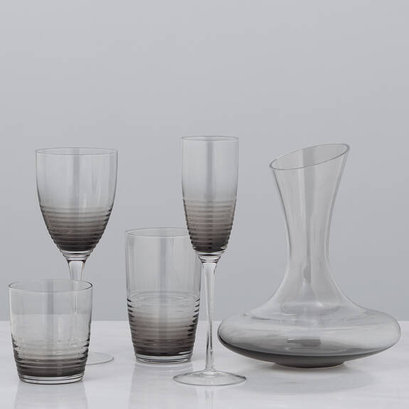 Midtown Glassware - Grey