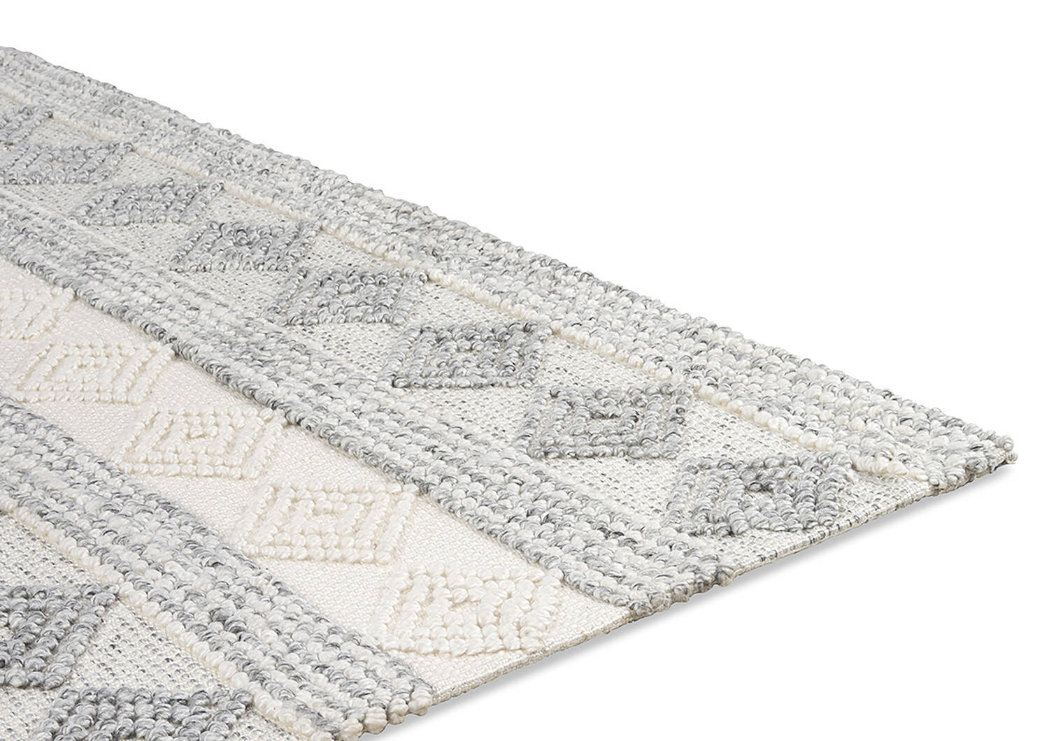 Arkun Rug 108x144 White/Grey