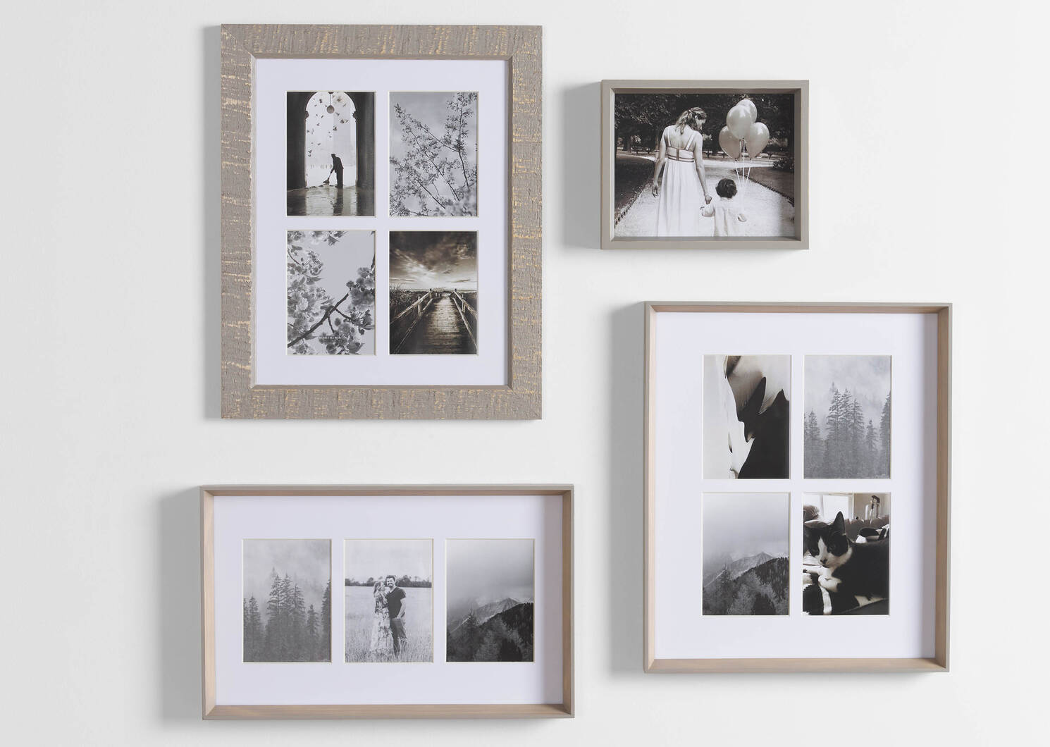 Keon Wall Frame 4-5x7 Grey