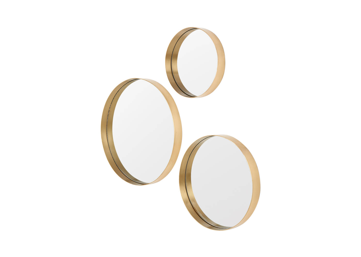 Frances Wall Mirror Set Brass