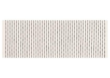 Rivera Stripe Runner 30x84 Natural/Grey