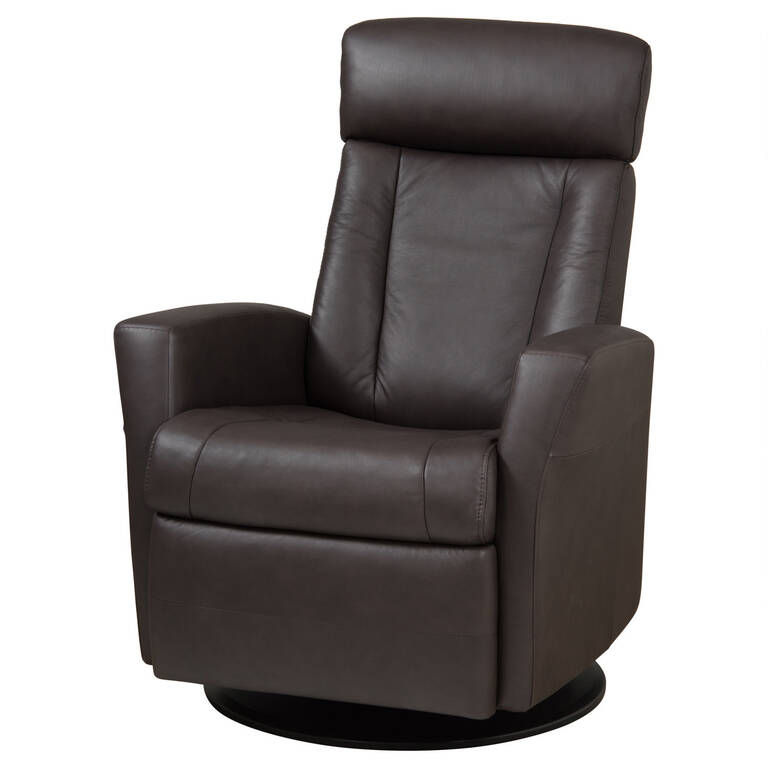 Enjoyable Belvedere Leather Recliner Tre Brown Onthecornerstone Fun Painted Chair Ideas Images Onthecornerstoneorg