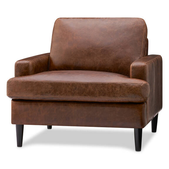 Savoy Leather Armchair -Jasper Walnut