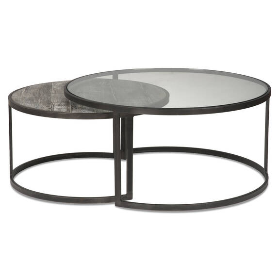 Bronze Nesting Coffee Tables: Ashbury Coffee Table -Aged Bronze