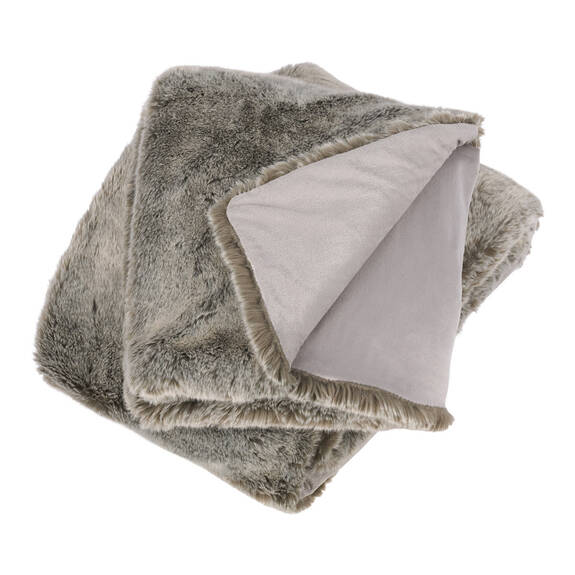 Fauna Faux Fur Throw Silverfox