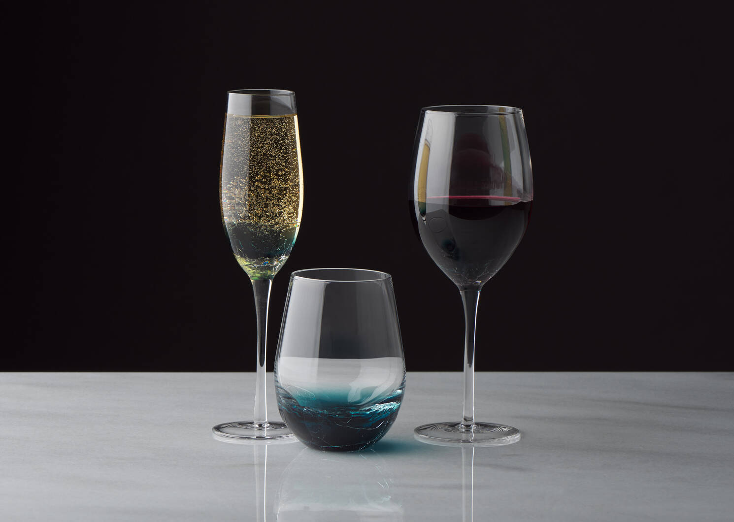 Verre à vin Lively sarcelle