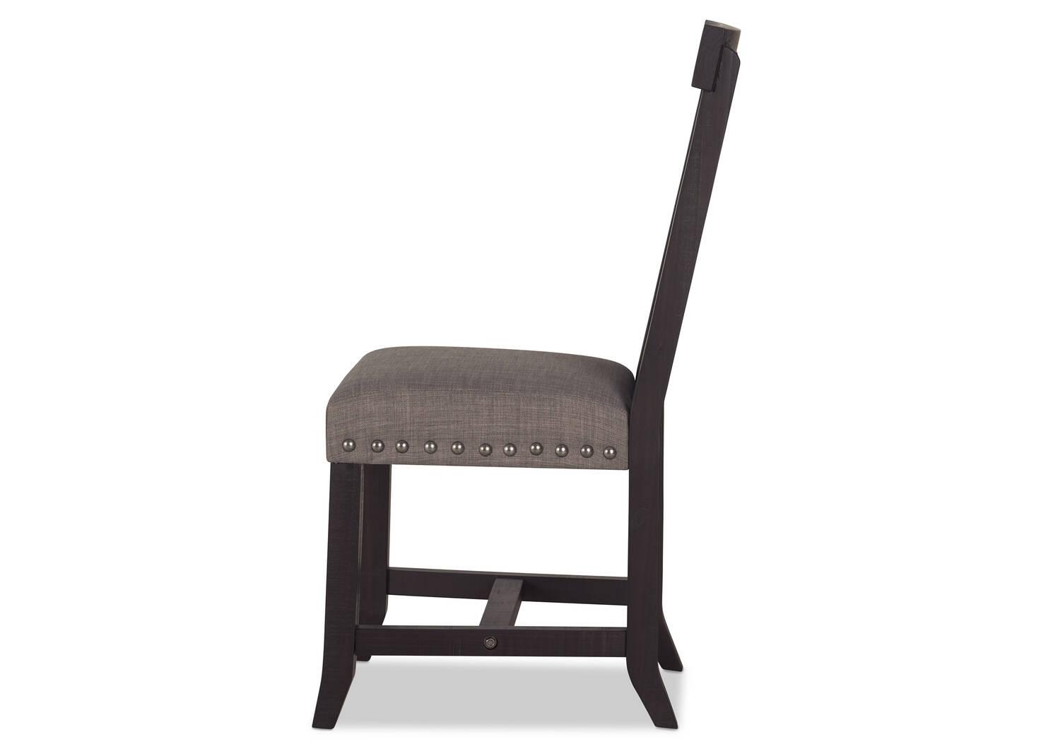 Chaise Ironside -Khal café/grise