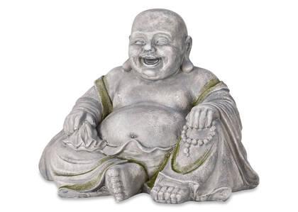 Statuette de bouddha Joyful naturelle