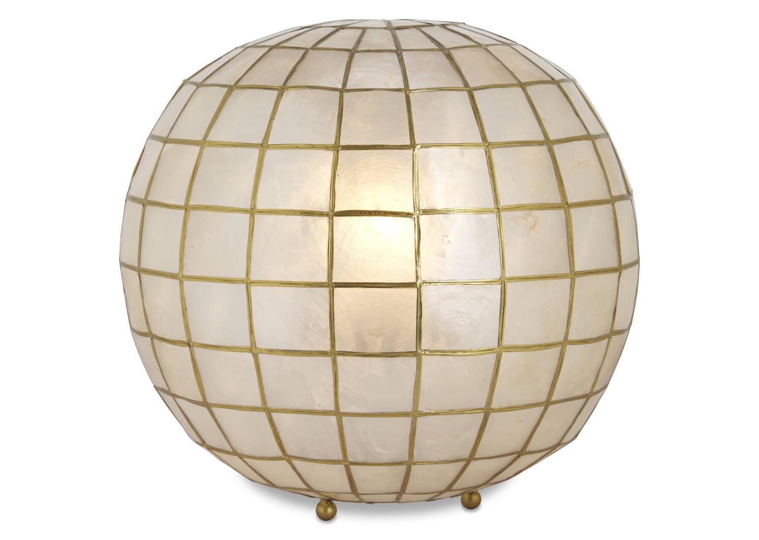 Lampe boule en nacre Capiz Ensley