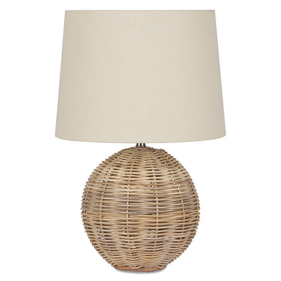 Lampe de table en rotin Noor