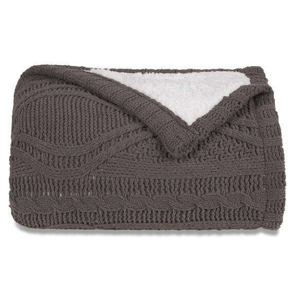 Lisette Sherpa Throw Cobble