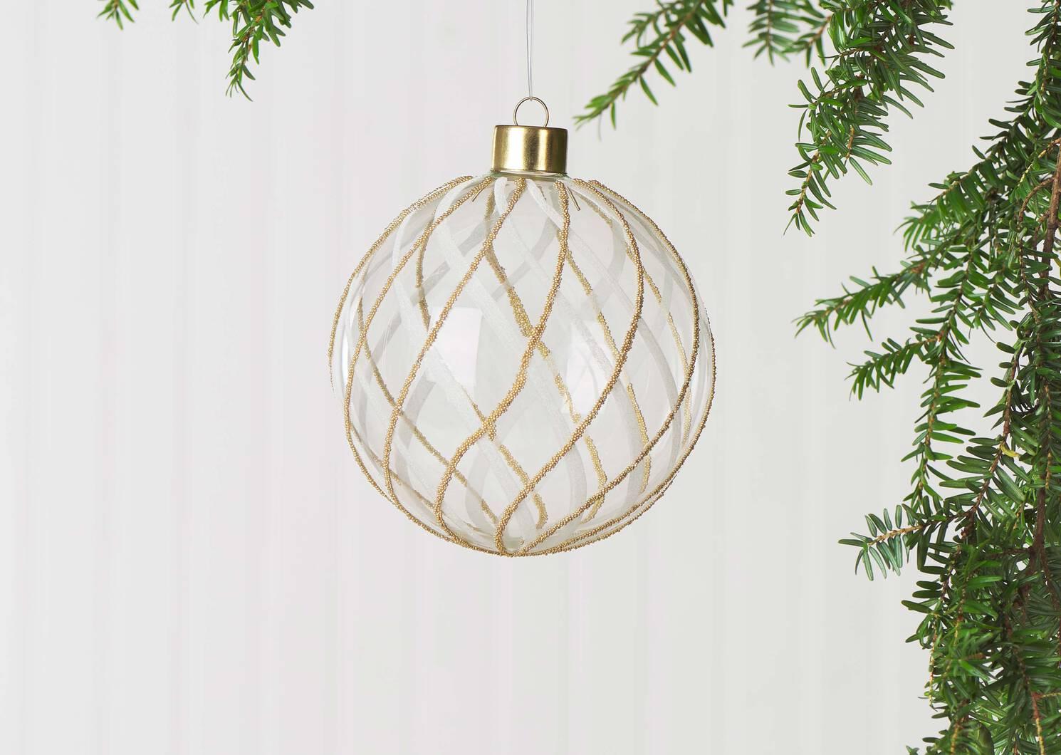 Dias Ball Orn White/Gold