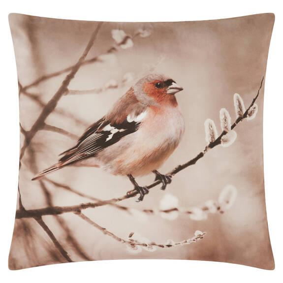 Homestead Bird Toss 20x20 Ginger/Ivory