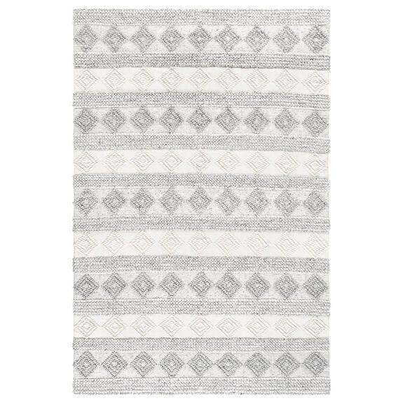 Arkun Rug - White/Grey