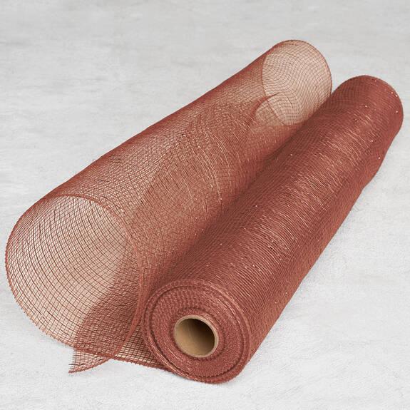 Tulle métallique Kringle rose doré