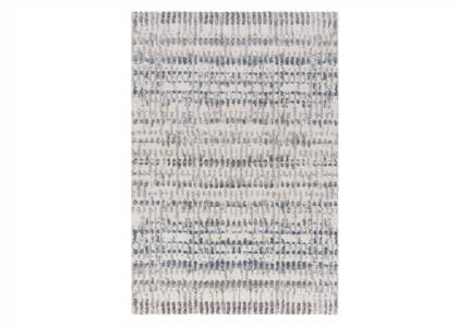 Tapis Nicolet 94x133 bleu/gris/ivoire