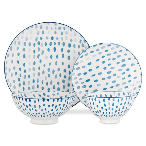 Service de vaisselle Linney 16 p. bleu