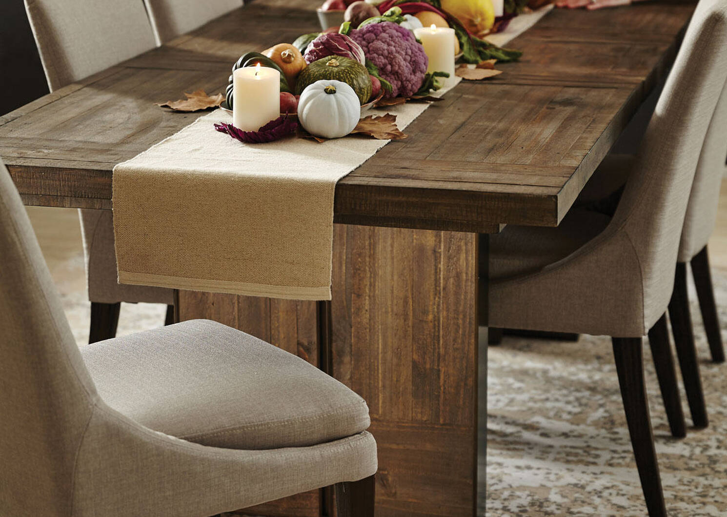 Mandalay Ext Dining Table Dune Brown, Urban Dining Room Sets