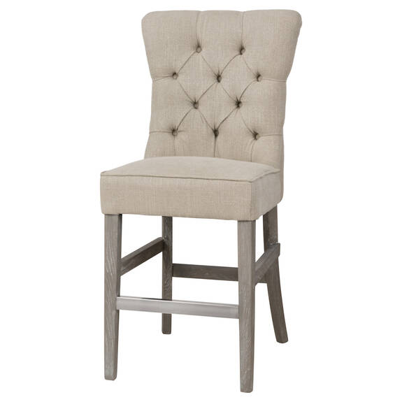 Oakwood Counter Stool -Nantucket Linen