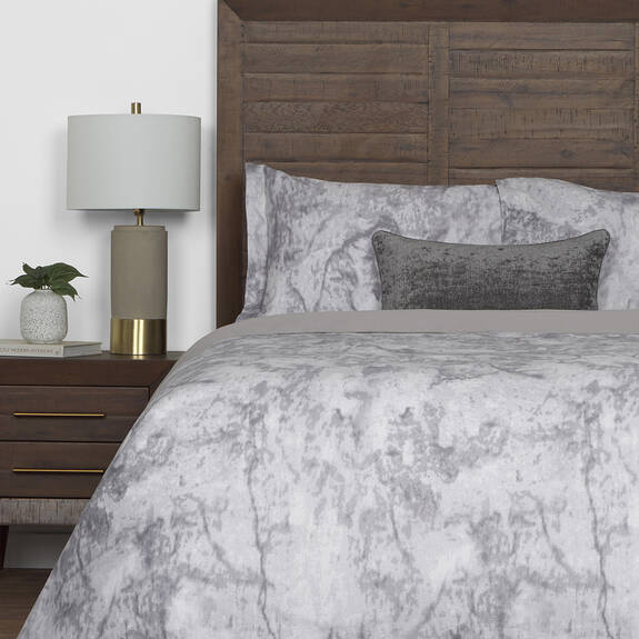 Granite Duvet Set Grey