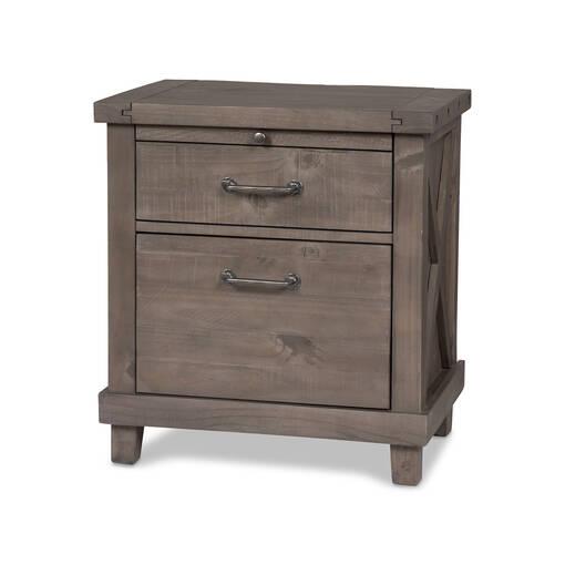 Table de chevet Ironside -gris rustique