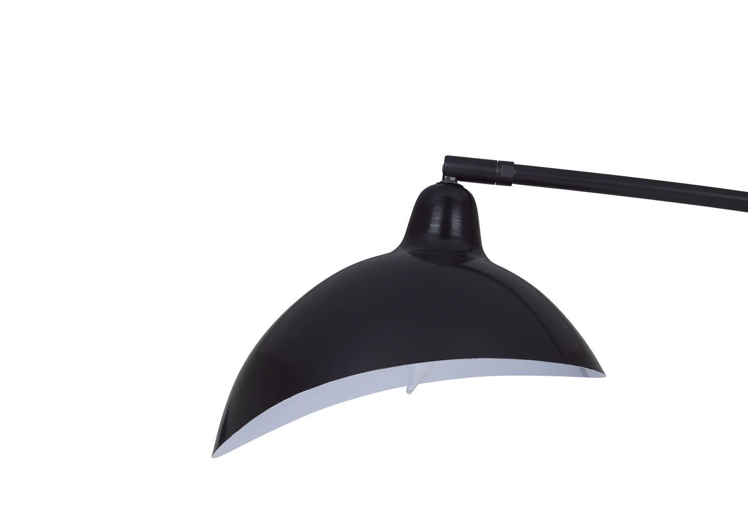 Lampe sur pied Friedrich noire