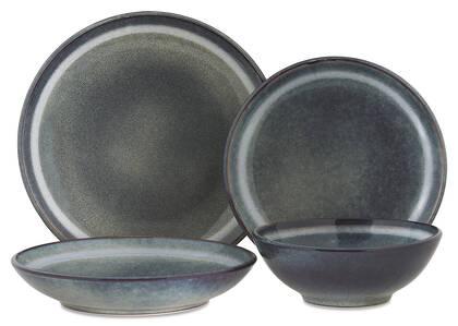Salt Spring 16 pc Dish Set Blue
