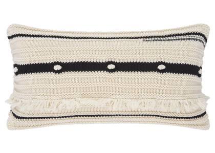 Zendaya Cotton Toss 12x22 Natural/Bla