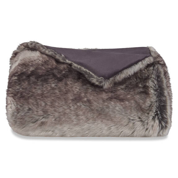 Haven Faux Fur Throw Grey Wolf