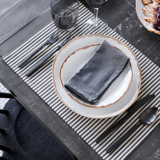 Hammered 5pc Cutlery Set Matte Black