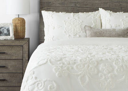 Quintana Duvet Sets White