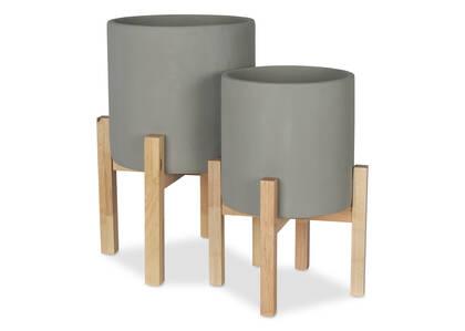 Adah Standing Planters -Grey
